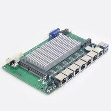 Pfsense 6 LAN Gigabit Ethernet материнская плата Mini ITX с Intel Celeron 1007U cpu брандмауэр маршрутизатор сервер поддержка Wake on LAN