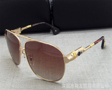 DOWER ME Fashion Business Men Drivers Alloy Full Rim Polarized Sunglasses Gold Silver Luxury Classic UV400 Sunglasses for Men