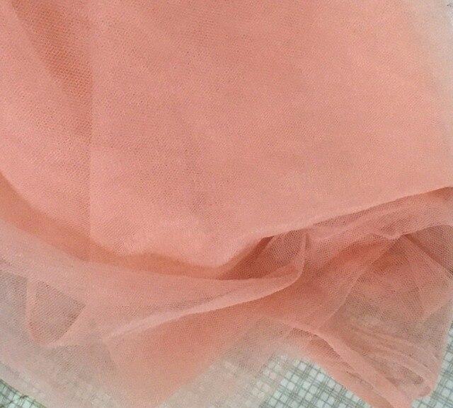 Peach Warna Pink 160 Cm Lebar 3 Meters Lot Kain Lembut Halus Tulle Mesh Lubang