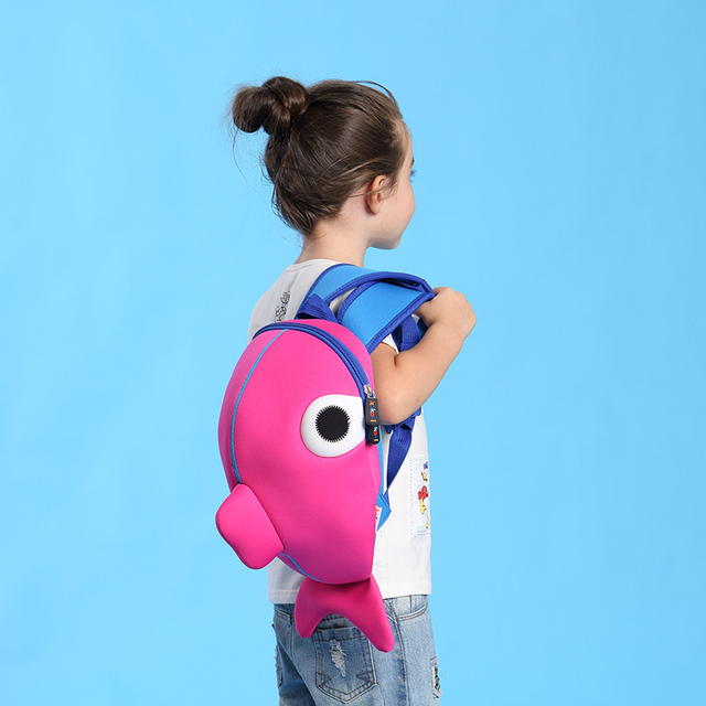 Kid's Cute Fish Colorful Backpack 2