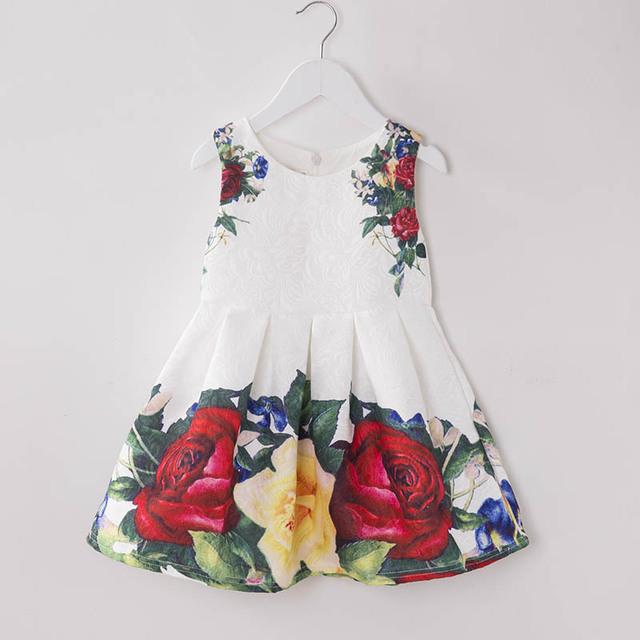 2017 Vestido Da Menina Meninas de Verão De Alta-grau Vestidos De Casamento Crianças Bordados Vestidos de Festa Da Dama de honra Vestido Da Menina Roupa Dos Miúdos