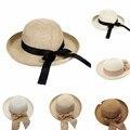 Summer Fashion Casual Señoras de Las Mujeres de Ala Ancha Beach Sun Sombrero de Paja Elegante Tapa Para Salir Con Mujeres 9 Colores