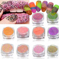 1.5g Dazzling Finest Mixed Sugar Nail Glitter Dust Powder for Nail Tips Decor Beauty Craft UV Gel Manicure Accessory #513-522