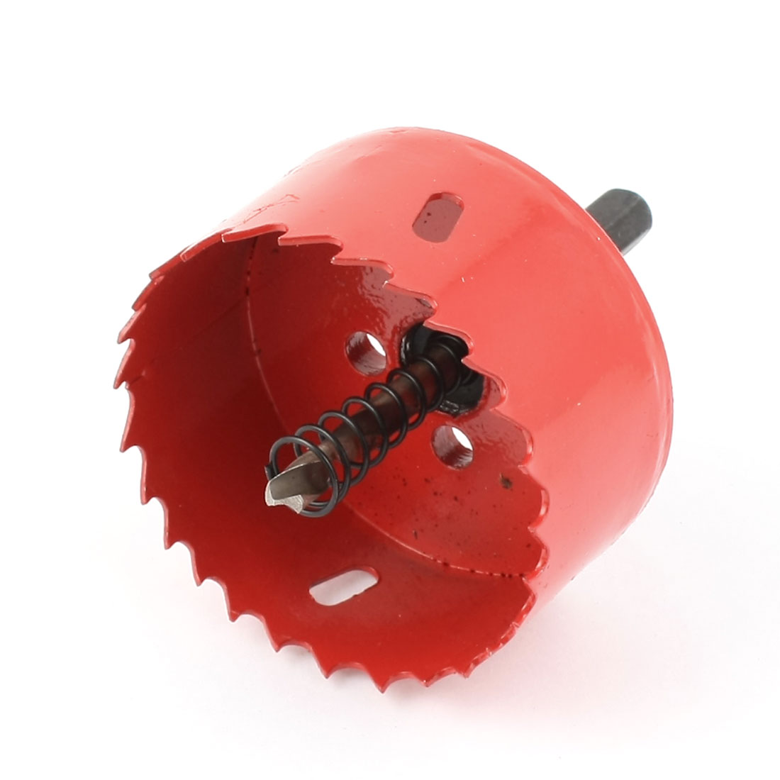 Подробнее о UXCELL 70Mm Cutting Dia Toothed Bi Metal Hole Saw Cutter Drill Bit Red For Wood Iron uxcell 42mm cutting dia 10mm shank twist drill bit bimetal hole saw cutter tool red