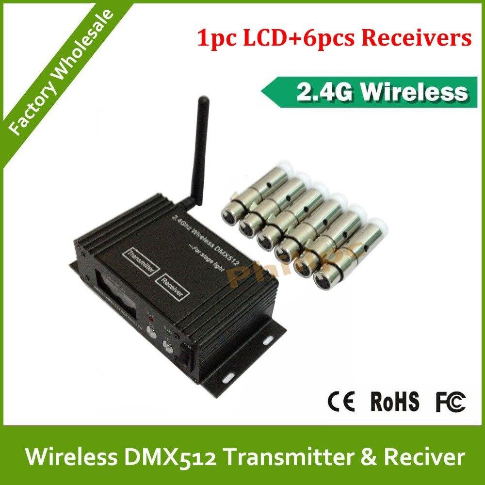 Dhl rápido frete grátis 3 PINS XLR DMX sem fio receptor e transmissor