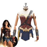 2017 New Movie Wonder Woman Cosplay Costumes Adult Custom Made Princess Diana Dress Full Sets Party Halloween Costumes For Women