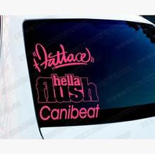 Car Styling hella flush fatlace canibeat Car Sticker Decorative Reflective Sticker Decals for vw mazda etc(China)