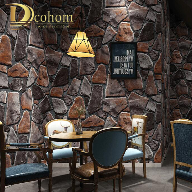 Painting Supplies & Wall Treatments Realistic Wall Decorated Vintage Brick Textured Wallpaper Embossed 3d Wall Paper Rolls For Bedroom Living Room Sofa Tv Background Wshyufei Home Improvement