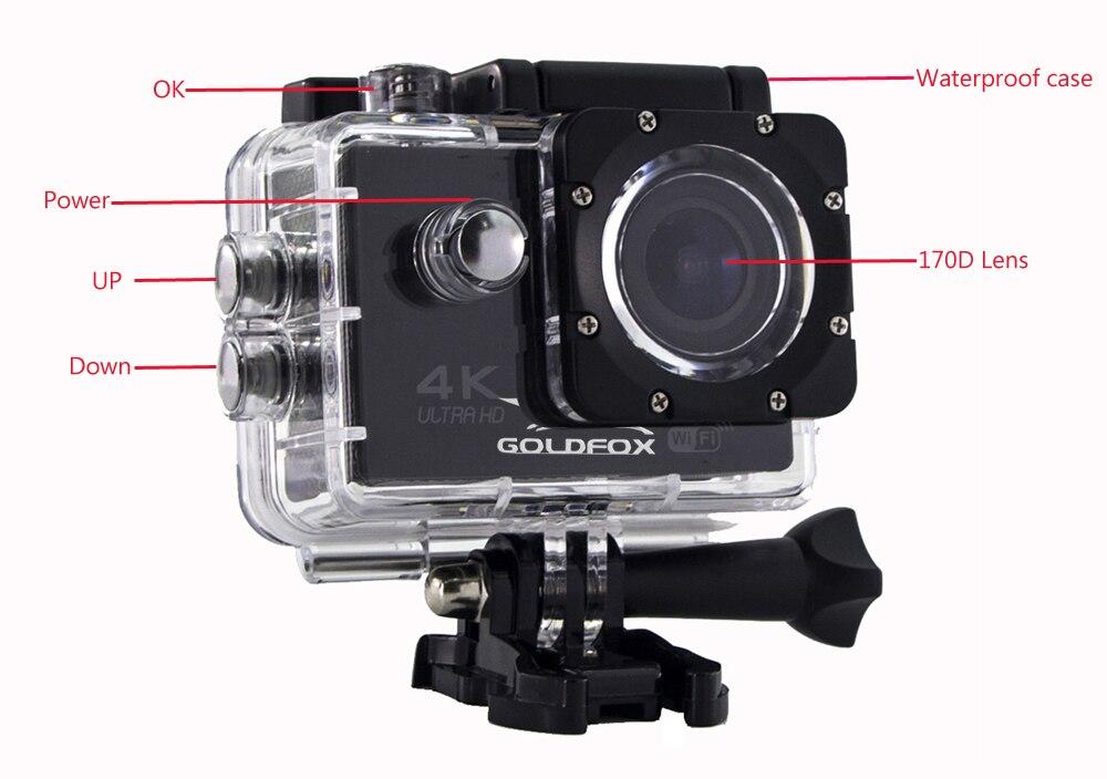 F60/F60R 4K Wifi Экшн-камера 16MP 170D Sport DV 30M Go Водонепроницаемая Pro Экстремальная Спортивная камера видео велосипед шлем камера для автомобиля DVR