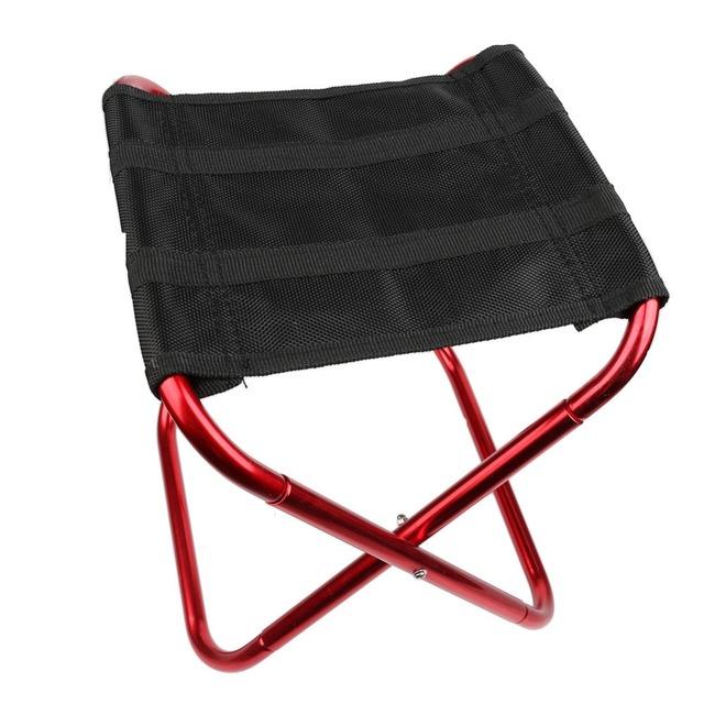 Dobre Stool Cadeira Assento de Alumínio de Dobramento ao ar livre de Acampamento de Pesca com Saco de Transporte