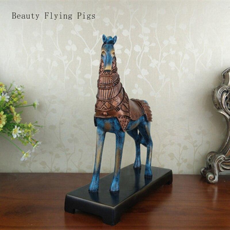Nouvelle maison antique cheval résine décoration maison salon décoration bureau cadeau décoration pur travail à la main fine qualité
