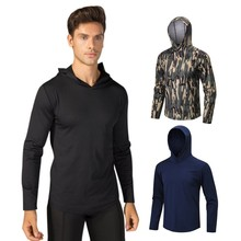 Men Sports Jacket Summer Pullover Print Hooded Solid Color Long Sleeve Casual Loose Fitness Tops