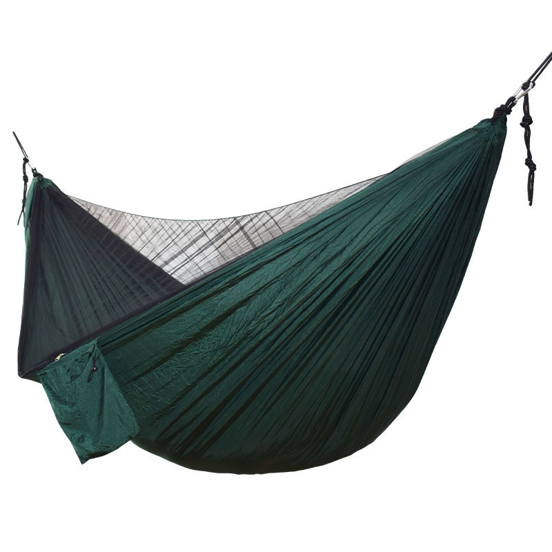 Image 2 - Ulatralight Double Mosquito Net Hammock Easy Set Up Hamak 290*140cm With Wind Rope Nails Portable For Camping Travel Yard-in Hammocks from Furniture