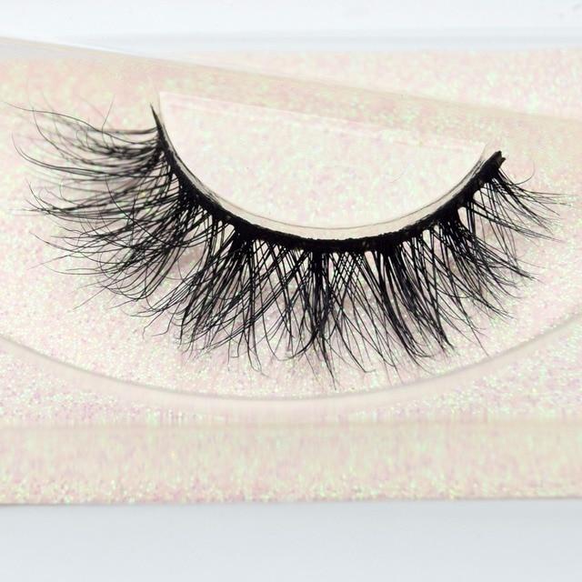 Visofree Eyelashes 3D Mink Lashes natural handmade  volume soft lashes long eyelash  extension real mink eyelash for makeup E01 2