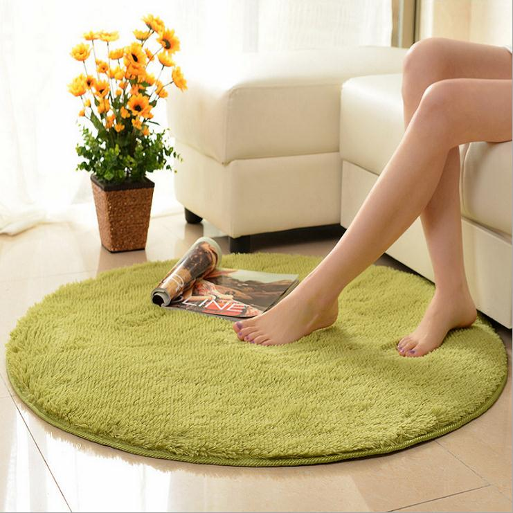 Anti Slip Ground Mat Thicken Round Floor Carpets For Living Room Bathroom Circle Water Absorption Rug In From Home Garden On
