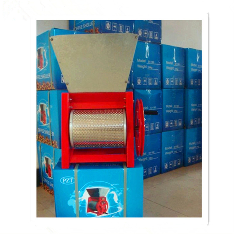 Manual coffee peeling pulping machine cocoa beans sheller peeler extractor ZF