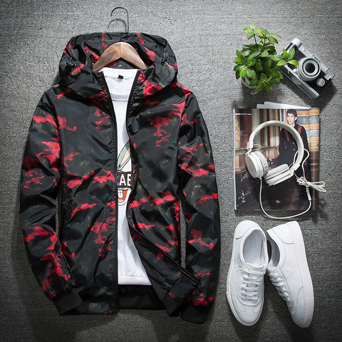 New Autumn Winter Jacket Men Thin Jackets Men Casual Lover Jacket Hip Hop Windbreaker Hooded Jacket Coat Zipper Parka Men Pakistan