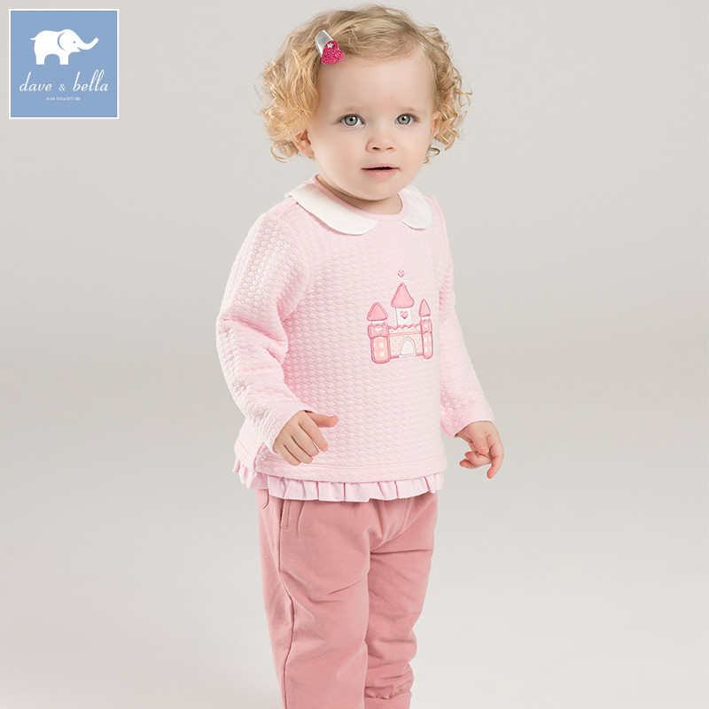DB7184 dave bella spring baby girls clothing sets kids print suit children toddler outfits high quality clothes dbz7441 dave bella spring baby girls clothing sets kids cat print suit children toddle outfits high quality clothes