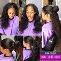13x4 Peruano lace frontal encerramento com 3 feixes de ORELHA A ORELHA grau 7a cabelo rainha Peruano frontais rendas onda do corpo com o bebê cabelo