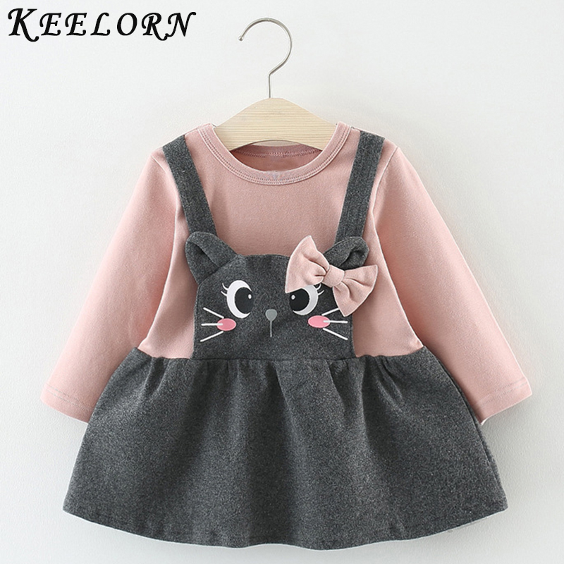 Keelorn Baby Girl Dress 2019 New Autumn baby clothes Fashion princess Dress Newborns Birthday Dresses Girls Clothes Kids