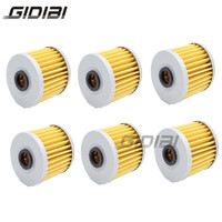 6 Pcs Motorcycle Oil Filter For Kawasaki KLX650 A1-A3 D1 (KLX650 R)  93-96 KLX650 C1-C5  93-97 KLX650 R  93-01 Paper and Metal