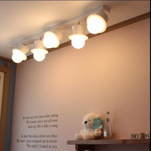 Modern 5 Head White Restaurant Light Personalized Decoration Ceiling Light Bedroom Lights With LED Bulbs Free Shipping
