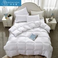 SHIDANDA Winter Quilts 75 Duck Down Duvet Comforter Grade A Eiderdown Comforter For Bedroom White Silk