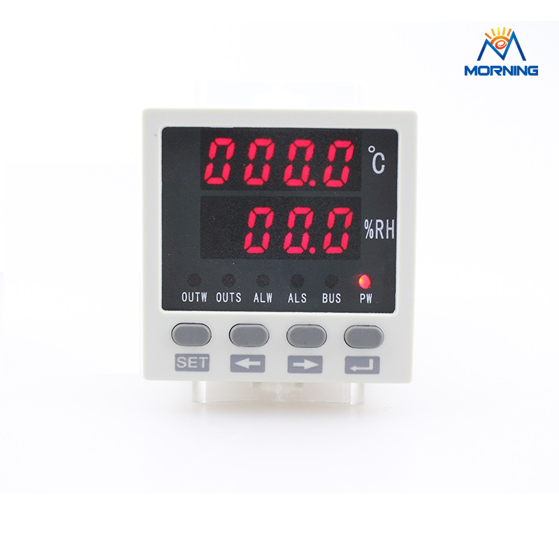 WSK301 48*48mm AC/DC85-265V LED Digital display Temperature and humidity Controller with sensor