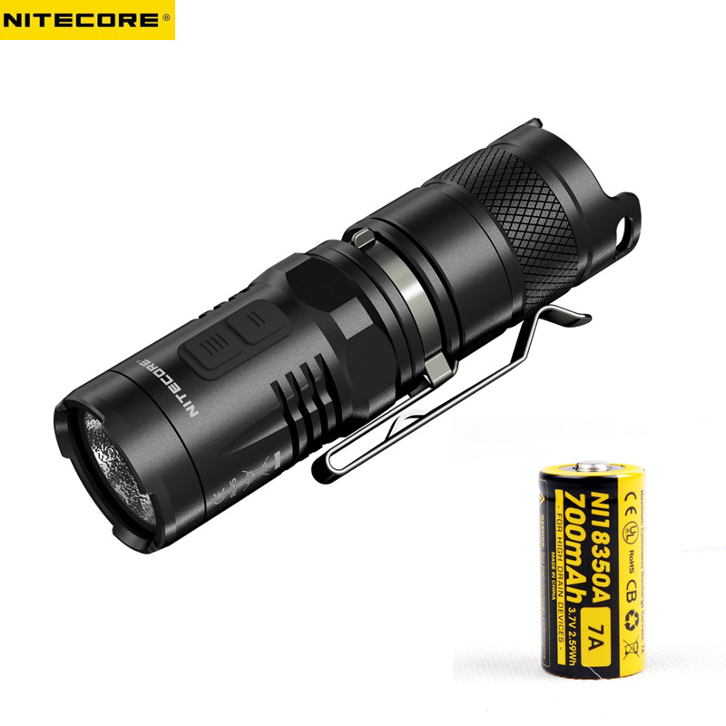 Mini Torch NITECORE MT10C CREE XM-L2 MAX. 920 lumen 9-modes LED Flashlight Lamp Torch Light nitecore mt10a tactical flashlight edc cree xm l2 u2 920 lumens led mini torch with red white light by 14500 aa battery