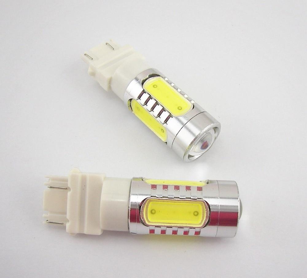 CYAN SOIL BAY 2Pcs 3157 Xenon White 7.5W LED Reverse Backup Plasma Projector DRL Light Bulbs