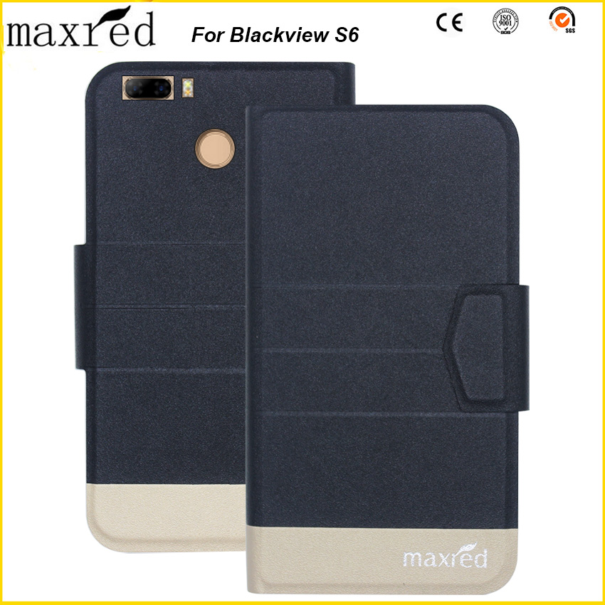 Original! Blackview S6 Case 5 Colors High Quality Flip Ultra-thin Luxury Leather Protective For