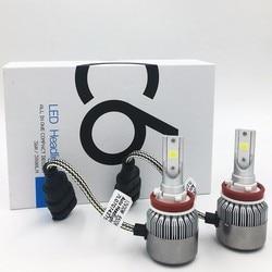 Car Headlight H7 H4 LED H8/H11 HB3/9005 HB4/9006 H1 H3 9012 H13 9004 9007 70W 7000lm Auto Bulb Headlamp 6000K Light