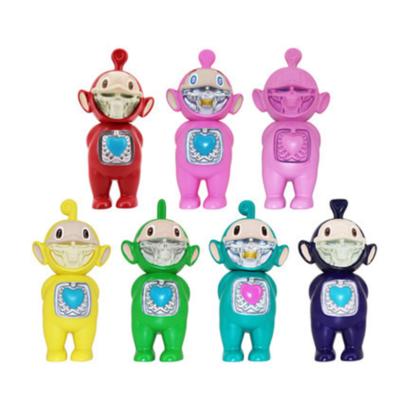 Medicom Toy KAWS Teletubbies Cosplay Street Art PVC Action Figure Collection Model Toy G1291 2 colour outer space trophy electroplating kaws bape milo kabinett ver medicom toy pvc action figure collection model toy g690