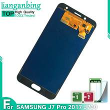 Para Samsung Galaxy J730 J730F J7 Pro 2017 LCD Display LCD + Touch Screen Digitador Assembléia Substituição Pode Ajustar O Brilho(China)