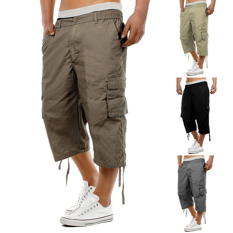 MJARTORIA 2019 Mens Military Cargo   Shorts   Summer Cotton   Shorts   Men Loose Multi-Pocket   Shorts   Homme Casual Bermuda Trousers