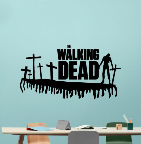 walking dead wall decal movie vinyl sticker horror poster kids art