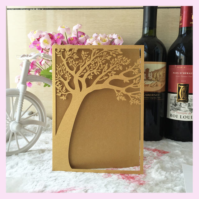 50pcs Personalized Custom 80th Birthday Life Tree Adult 30th 40th 50th 60th 70th 90th Invites Party Decoration Supplier