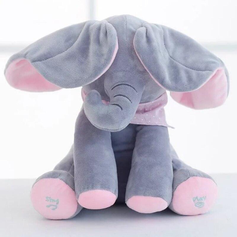 30cm-Play-Music-Elephant-2017-Electric-Elephant-Peek-a-boo-Plush-Soft-Toy-Animal-Stuffed-Doll-Play-Hide-Seek-CuteEducational-Toy-1