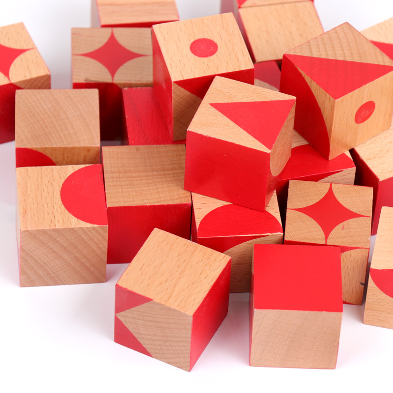Children Brain Square Desktop Game Square 3D Solid Wooden Children Early Education Toys in Blocks from Toys Hobbies