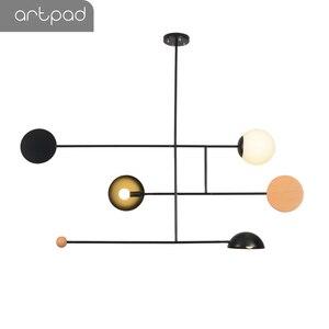 Image 2 - Artpad Creative נברשת תאורה E14 תקרת מוט תליית אור אוכל חדר שינה סלון בית גופי תאורה