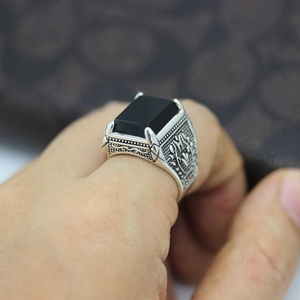 Image 3 - Eulonvan Luxe Vintage 925 Sterling Zilver Zwart Ringen Sieraden & Accessoires Mannen Dropshipping Zirconia S 3810 Size 6   13