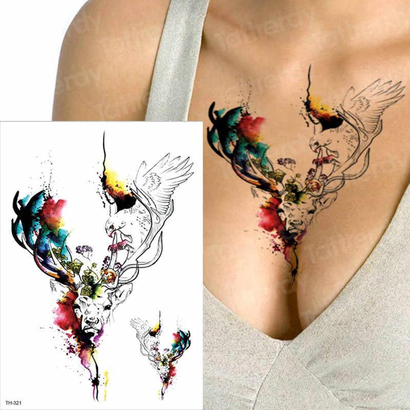 Tattoo Body Art Moose Tattoos Water Color Sexy Tatoo Women