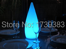 Energy-saving LED Teardrop/Rocket lamp led night light colorful remote control rechargeable LED Water Drop lamp indoor/outdoor led remote control colorful eggs rechargeable bar table lamp ktv night club light dimming color led night light free shipping