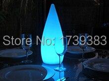 Lampe de larme/fusée LED économiseuse d'énergie LED veilleuse colorée télécommande rechargeable LED lampe de goutte d'eau d'intérieur/extérieur