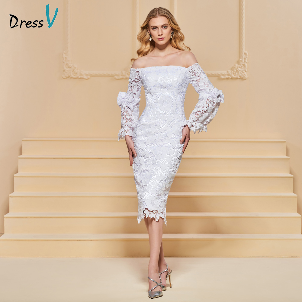 Aliexpress.com : Buy Dressv White Evening Dress Sheath