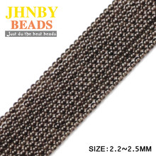 JHNBY 2mm Small Tea quartz Round brown Natural crystals Stone 38cm strand Loose beads Jewelry bracelet making DIY Accessories()