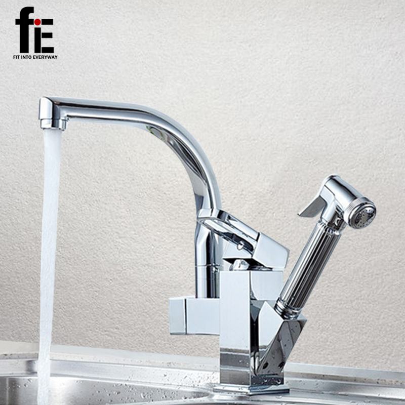 FIT INTO EVERYWAY Deck Mounted Single Handle Waterfall Bathroom Bathtub Faucet with Hand Shower Hot and