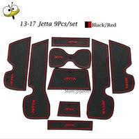 Car Interior Accessories Rubber Auto Luminous Gate Door Pad Anti Slip Cup Holder Mat Cushion For