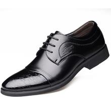New Man Autumn Winter Business Affairs Dress Leather Male Flats Wedding Formal Office Shoes 9925#