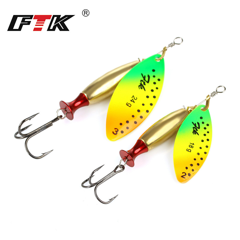 FTK 1PC Mepps Long Cast Size2-Size3 Fishing Lures Hook Spinner Spoon Lures With Mustad Treble Hooks fishking mepps 1 5 4pcs lot long spinner bait spoon lures with mustad treble hooks peche jig anzuelos isca pesca